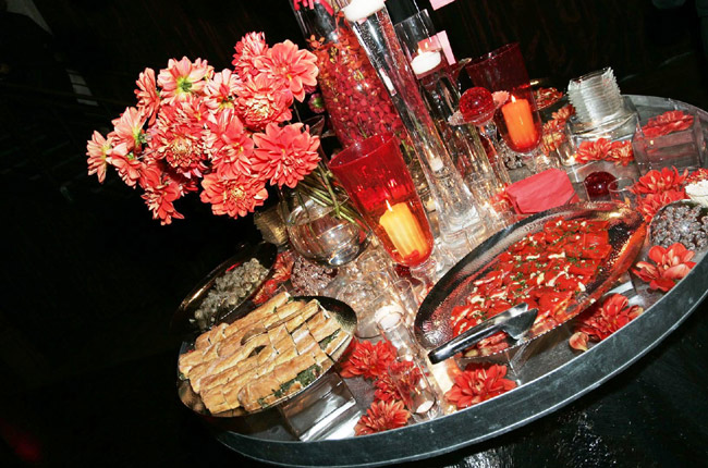 Buffet in Reds by Norema Salinas