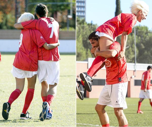 Un Gol Solidario Y En Pareja Por Veronica Echegui Y Alex Garcia