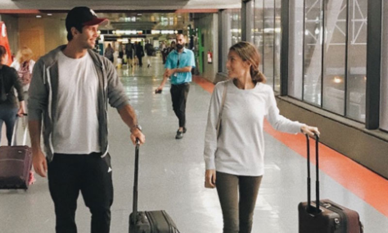Ana Boyer, escala en Madrid para preparar su boda antes de viajar a París para apoyar a Verdasco