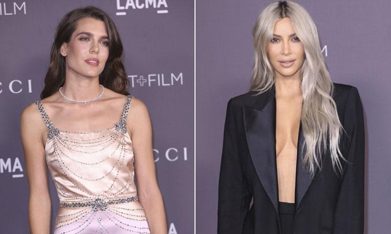 La noche en la que coincidieron la elegancia de Carlota Casiraghi y la insinuación de Kim Kardashian