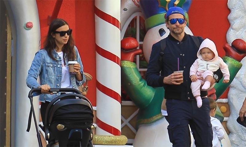 EXCLUSIVA: La imagen más familiar de Irina Shayk y Bradley Cooper con su pequeña Lea