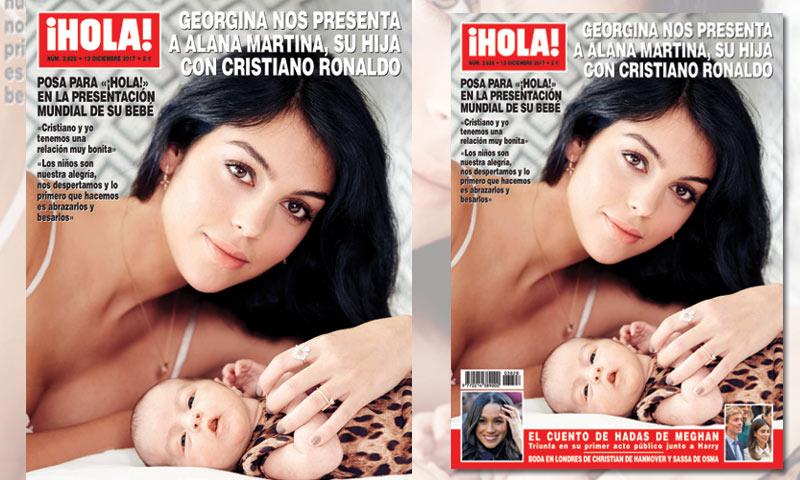 Georgina elige ¡HOLA! para presentar a Alana Martina, su hija con Cristiano Ronaldo