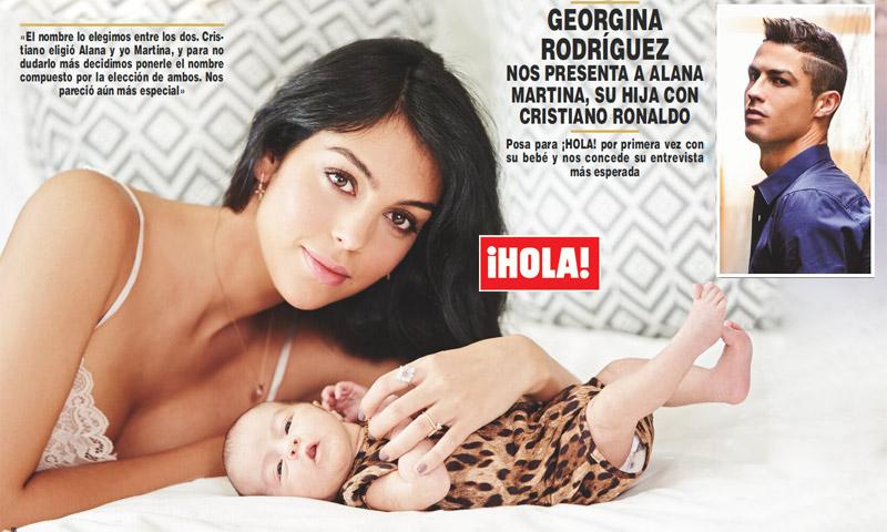 En ¡HOLA! Georgina Rodríguez desvela el detalle que hizo especial el parto de su hija Alana Martina