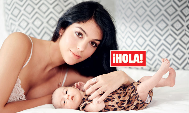 En ¡HOLA!, Georgina Rodríguez desvela a quién se parece Alana Martina
