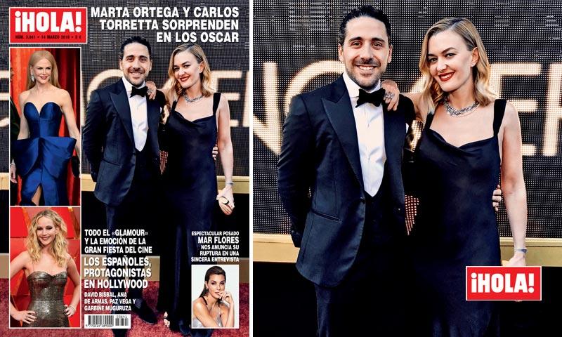 ¡HOLA! descubre a Marta Ortega y Carlos Torretta en los Oscar