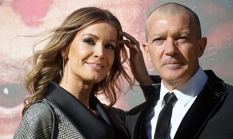 Antonio Banderas, arropado por su musa, Nicole Kimpel, en su estreno más especial