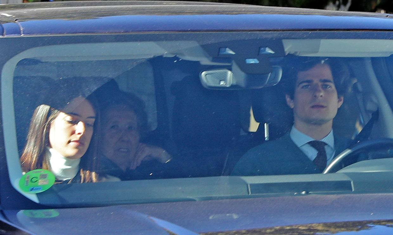 Los duques de Huéscar disfrutan en familia de su primera Navidad como padres