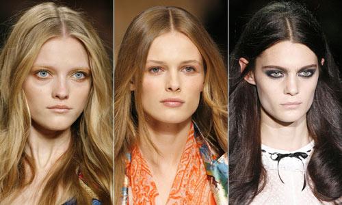 Resultado de imagen para peinado raya al medio mujer