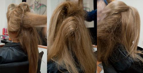 Peinado recogido con rulos paso a paso