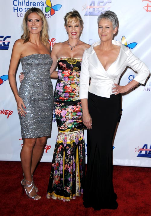 Heidi Klum, Melanie Griffith y Jamie Lee Curtis