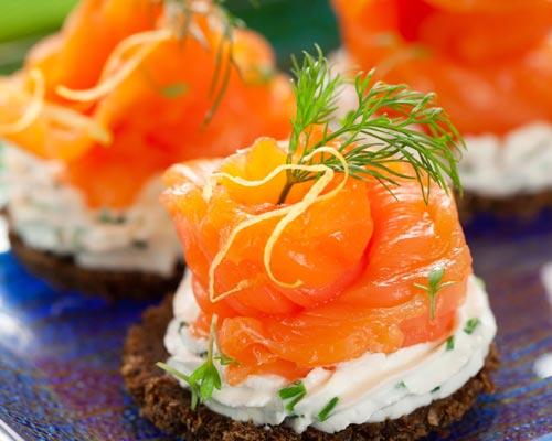 tapas espanolas de salmon