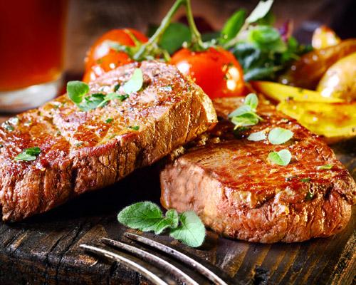 cocina con carne