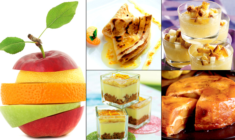 Postres: Pera, manzana, naranja… la fruta de temporada, ¡en su versión más dulce!