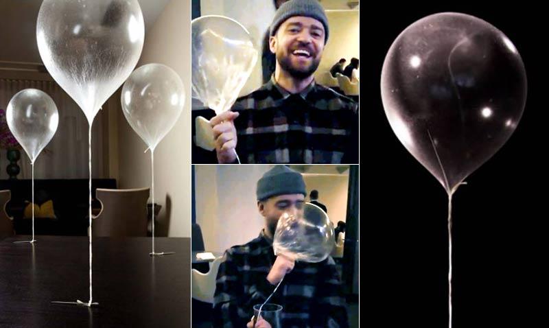 Platos icónicos: así es el globo comestible que tanto divierte a Justin Timberlake