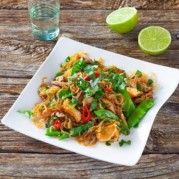 'Slim noodles' con pollo