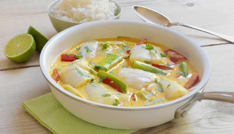 Bacalao fresco al curry