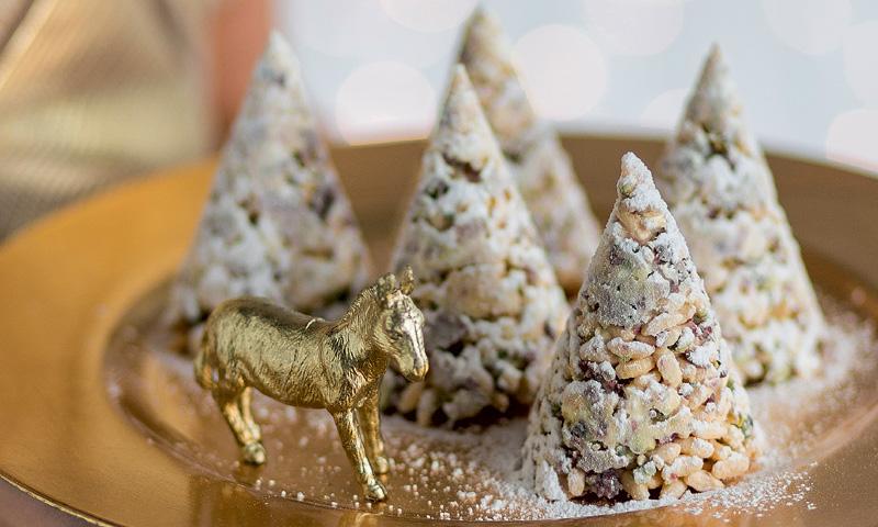 Galletas con forma de árbol de Navidad