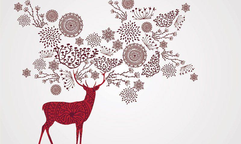 Imagenes de decoraciones de navidad para colorear