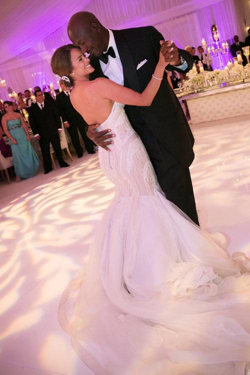 La fabulosa boda de Michael Jordan e Yvette Prieto en Palm Beach