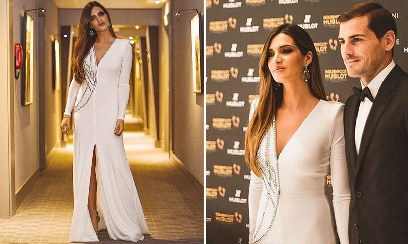 El impresionante 'look' de Sara Carbonero en su noche más mágica