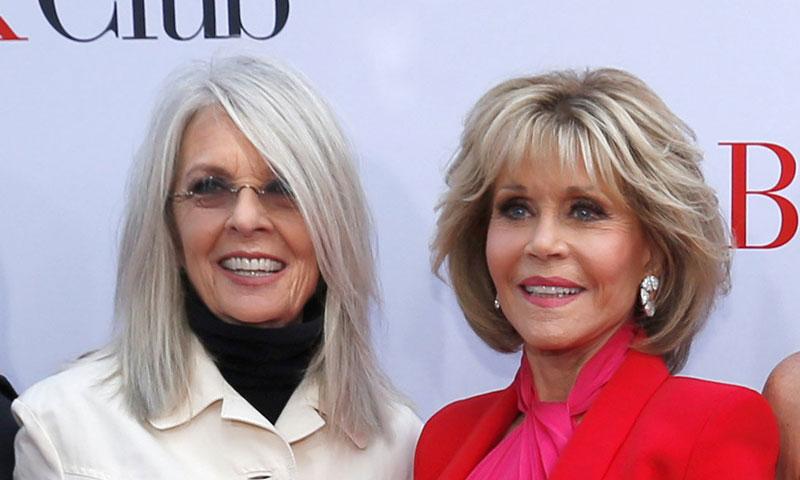 Jane Fonda y Diane Keaton, dos atrevidos estilos sobre la alfombra roja