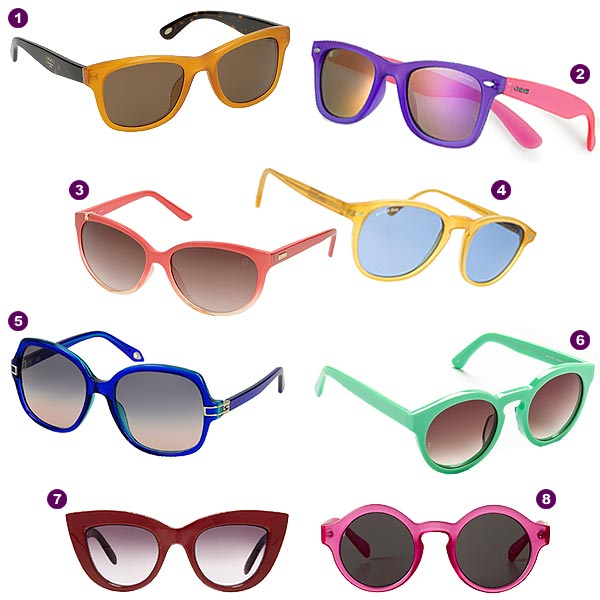 Gafas de sol: Miradas \'cool\' a todo color