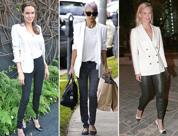 Como usar blazer blanco mujer