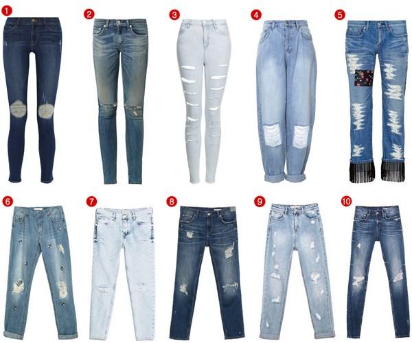 Ripped Jeans Un Pantalon Siete Looks