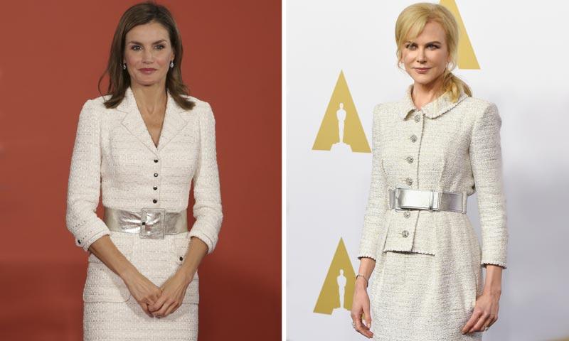 El enésimo parecido entre el look de la reina Letizia y Nicole Kidman