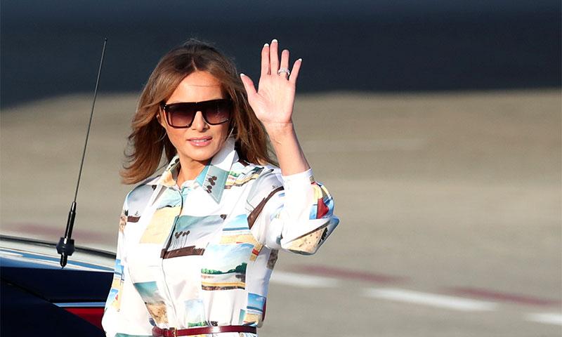 El homenaje de Melania Trump al Far West camino a Japón