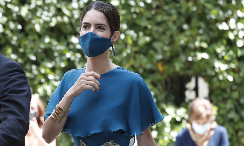 Sofía Palazuelo confía en el diseñador de Máxima de Holanda y apuesta por un vestido 'midi' con escote en la espalda