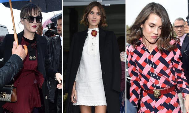Dakota Johnson, Alexa Chung y Carlota Casiraghi, protagonistas de 'front row'