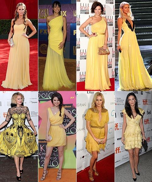 Vestido amarillo de boda