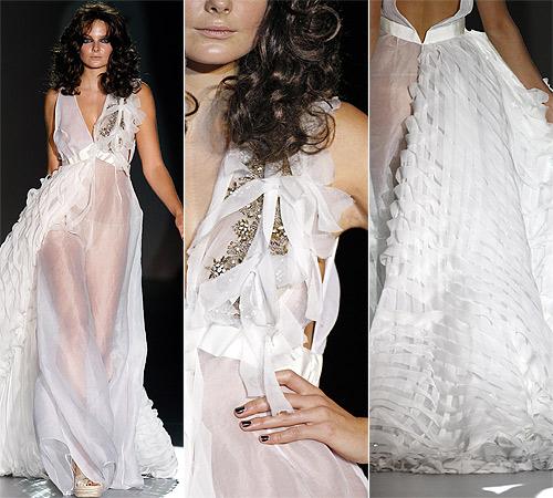 ¿Qué diseñador se atrevió a cerrar Cibeles con un vestido de novia?