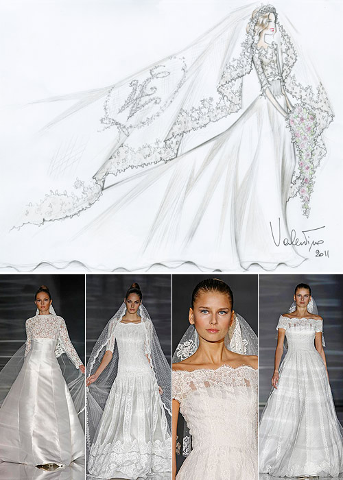 Así son los cuatro vestidos diseñados por Manuel Mota y Valentino ...