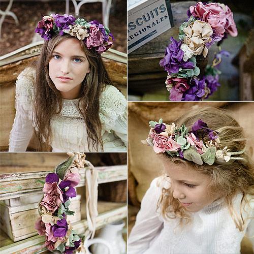 Este Otono Coronate De Flores - Flores-en-el-pelo-para-bodas