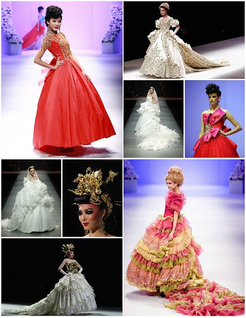 Los espectaculares vestidos de novia de la China Fashion Week