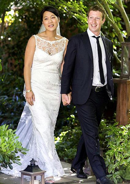 cb32ef523 Quieres el vestido de novia de la mujer de Mark Zuckerberg