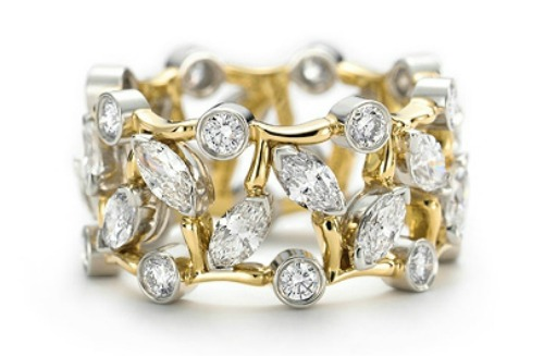 Anillo diamantes talla baguette