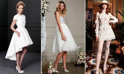 d0ddea1ede ¡Corto y cambio! 15 Vestidos de novia para dar el  sí
