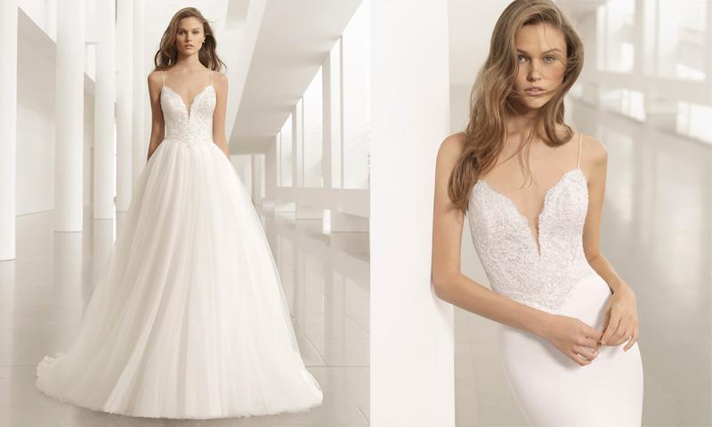 ¡Cambio de 'look'! Ocho vestidos convertibles para novias sorprendentes (por Rosa Clará)