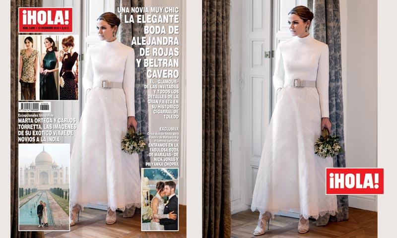 Alejandra de Rojas, todos los detalles de su excepcional vestido de novia
