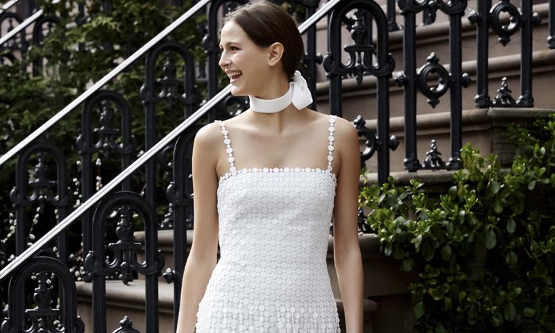 La revolución de los flecos en los vestidos de novia