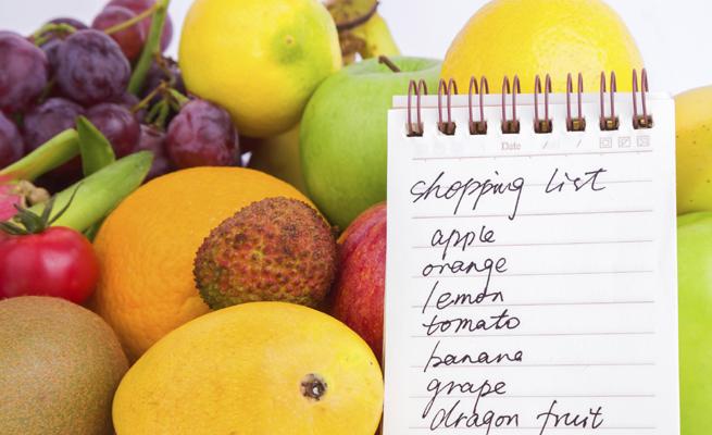 Lista de la compra para una dieta saludable