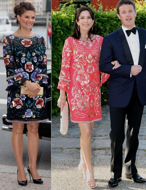 Victoria de Suecia y Mary de Dinamarca, dos princesas y un mismo vestido