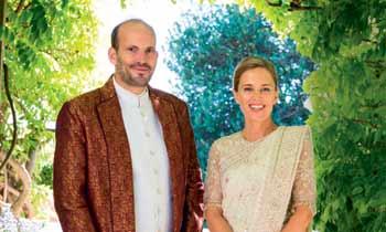 En ¡HOLA!, la romántica boda del príncipe Hussain, hijo del Aga Khan, y Fareen Hoag en Ginebra