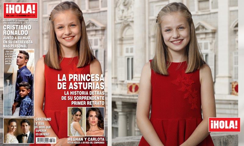 En ¡HOLA!, la Princesa de Asturias, la historia detrás de su sorprendente primer retrato