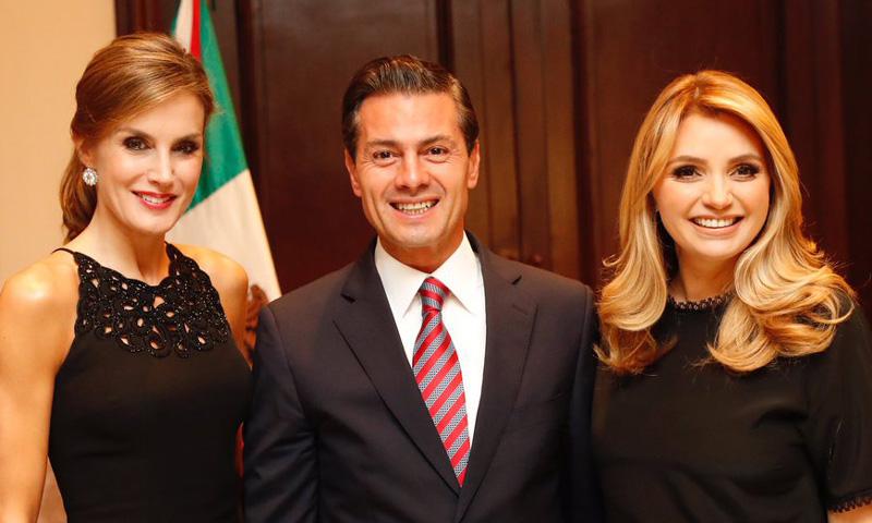 El reencuentro de la Reina con el presidente Peña Nieto y su mujer Angélica Rivera
