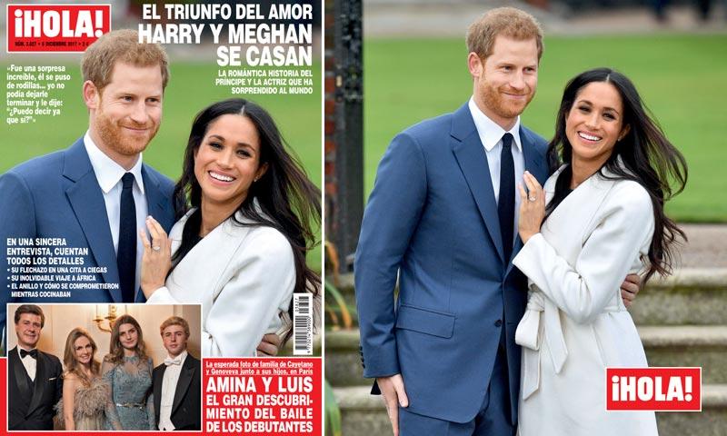 En ¡HOLA!, Harry y Meghan se casan
