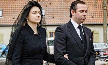 Último adiós de Stéphanie de Luxemburgo a su padre, el conde de Lannoy